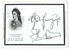 Elisabeth (Sissi, Sisi) AK, Corresponenz-Karte Ihrer Majestät Kaiserin v.Österr.