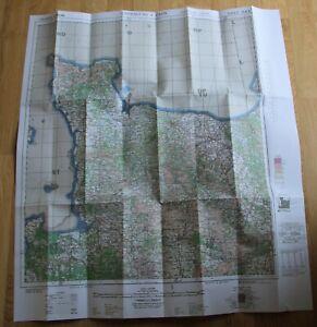 Carte para US GB WW2 Normandie 1943 opération Overlord Débarquement 1944