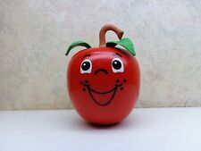 Vintage Fisher Price Happy Apple Toy Long Stem 435 Roly Poly Chimes 1972