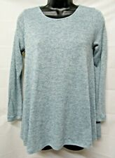 PUELLA Anthropologie Size XSP Teal Green Tissue Knit 3/4 SL Tunic Sweater Top