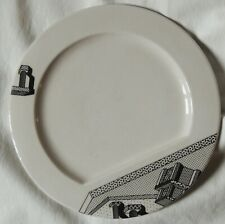 ETTORE SOTTSASS piatto in ceramica del 1985 modello INDIVIA per MEMPHIS