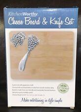 NIB!! KitchenWorthy Cheese Board & Knife Set.