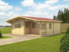 GOOD VALUE! 44 mm FAY 6 x 6 m log cabin