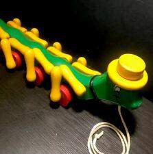 Kouvalias Wooden Caterpillar Mutli Color Pull Toy