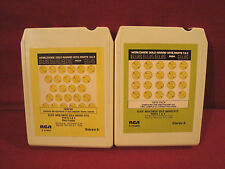 ELVIS PRESLEY WORLD WIDE GOLD AWARD HITS 1,2,3,& 4 LOT OF 2 RCA 8 TRACK TAPES