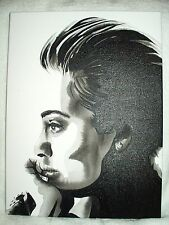 Canvas Painting Singer Adele Laurie Blue Adkins C B&W Art 16x12 inch Acrylic
