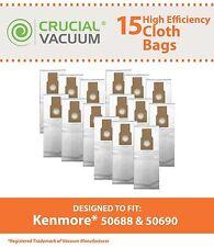 15 Kenmore 50688 50590 HEPA Style Vacuum Cloth Bags # 50688 20-5068 20-50681