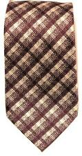 $240 NWT Tom Ford Mens 100% Silk Neck Tie Purple Gold Plaid Made in Italy