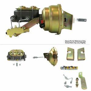"63-66 Chevy Truck FW Mount Power 11"" Single Brake Booster Kit Disc/Disc Protour"