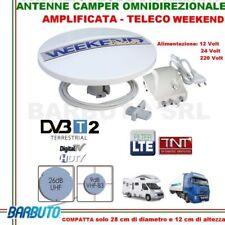 ANTENNA TV DA CAMPER O BARCA -TELECO WEEKEND OMNIDIREZIONALE 360°+AMPLIFICATORE