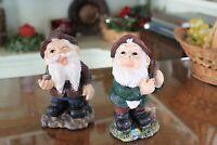 Yardwork Originals Patio Garden Resin Gnomes - Set of two