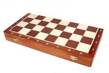 AR FIT FOLDING WOOD CHESS BOARD, BOX SET 3 IN 1 GAME 32 WOODEN PIECES