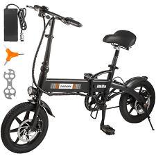 "14"" 250W 36V Electric Bicycle Folding Ebike Bike Lithium Battery Powered"