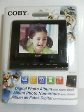 Coby DP356 3.5-Inch Digital Photo Frame with Alarm Clock, Black