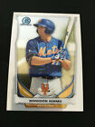 BRANDON NIMMO ROOKIE BOWMAN CHROME 2014 NEW YORK METS RC BASEBALL CARD. rookie card picture