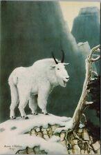 New listing Mountain Goat Frank L. Beebe Art Artist Unused Vintage O'Lane Postcard E25