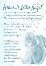 Blue Heaven's Little Angel Baby Bereavement Graveside Waterproof Memorial Card