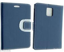 Para Blackberry Q30 Pasaporte De Cuero Funda Protectora Flip Cartera Bolsa Smart Fit Skin