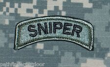 Sniper Tab ACU Morale Patch w/ Hook Fastener Backing Free Shipping to the US!!!