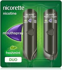 2X150 NICORETTE FRESHMINT QUICK MIST 1MG MOUTH SPRAY NICOTINE CONDITION IS NEW