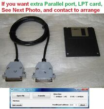 """Amiga <-> Pc ADF /File to 3.5"""" Disk Parallel cable Transfer Kit Easy Fast Cheap!"""