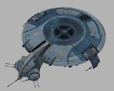 Droid Gunship Star Wars Spacecraft Mahogany Wood Model Large New