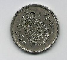 1  Münze aus  Spanien   5      Pesetas  1975-1978   Juan Carlos