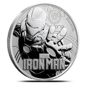 2018 Tuvalu Iron Man MARVEL 1 oz Silver Coin Perth Mint w/ capsule IN STOCK