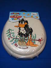 New Looney Tunes Toilet Seat Cream Christmas Tree Holiday Lights Cartoon Oblong