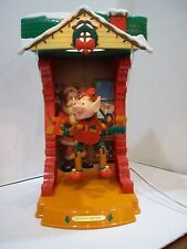 Animated Christmas NOMA Santa's North Pole Workshop Puppet Theater Dancing ELF