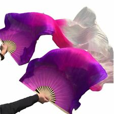 New Arrivals100% Silk High Quality Stage Performance Props 1 Pair Dance Fan Veil