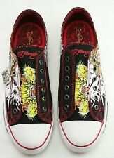 ED Hardy Black Tiger Rhinestones Shoes Men's Low rise 13