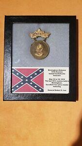 Investment Grade Civil War Confederate Birmingham AL Reunion medal Robert E. Lee
