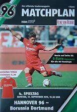 Programm 2015/16 Hannover 96 - Borussia Dortmund