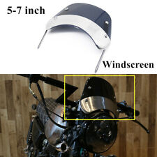 For 5-7inches 3MM Retro Motorcycle Round Headlights  Windshield Windscreen Kit