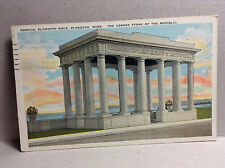 Portico Plymouth Rock Corner Stone of the Republic Mass Vtg Postcard Posted 1926