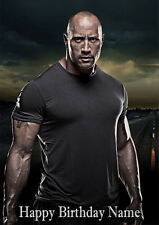 Dwayne Johnson 'The Rock' **Personalised Birthday Card** Any Name/Age A5 (C54)