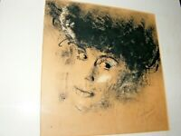 VINTAGE INK , PEN & PASTEL PAINTING PORTRAIT BY IMRE HOFBAUER SIGNED DATE 1974