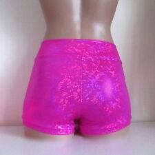 Schminke Hot pants dance shorts hotpants Lycra 4x way stretch hologram festival