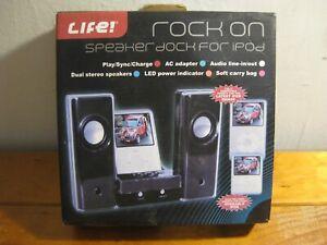 Classic IPOD Speaker Dock - 2007 (NEW IN BOX) Life! Get FUNKED (Black)