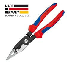 "Knipex 8"" Electrical Installation Pliers Comfort Grip Long Nose Cut Strip 13828"