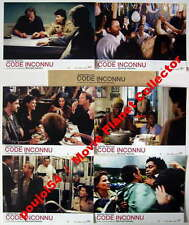 CODE INCONNU/CODE UNKNOWN - Binoche,Neuvic,Haneke - JEU DE 6 PHOTOS/6 FRENCH LC
