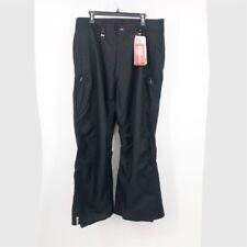 Bonfire Snowboarding Company Mens Titan Pants Black Flap Pockets Flat Front L