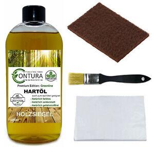 CONTURA Hartöl im SET 5tlg Holz- Möbelöl Holzöl Hartwachs Pflegeöl farblos 250ml
