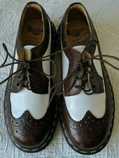 GREAT Dr. Doc Martens Brown &White Wingtips Made In England Sz. US 4