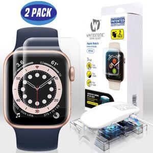 WHITESTONE DOME Apple Watch 40mm 6 / 5 / 4 Tempered Glass UV LIGHT - 2 Pack