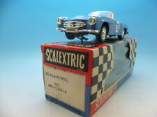 Scalextric C75 Mercedes in blue, super condition and original box