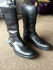 AUTH STUDIO POLLINI MID CALF RIDING/MOTORCYCLE STYLE BOOTS Sz 40 IT