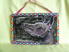 Hp Mexican Xolo Sign *your choice text* painting hand painted dog art hairless