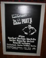 Original theater Marquee rolled movie Poster 1974 Godfather II Al Pacino Duvall